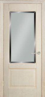 Двери Терминус Модель 04 ясень crema эмаль со стеклом