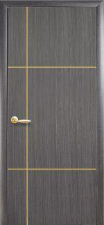 Двери Ника Новый Стиль грей Делюкс глухая с гравировкой