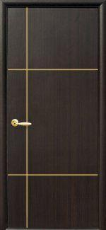 Двери Ника Новый Стиль венге Делюкс глухая с гравировкой