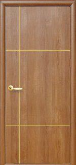 Двери Ника Новый Стиль золотая ольха Делюкс глухая с гравировкой
