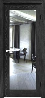 Двери Максима дуб графит с односторонним зеркалом