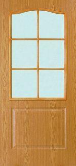 Двери Палитра 11-4 Интерьерные Двери дуб со стеклом