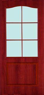 Двери Палитра 11-4 Интерьерные Двери итальянский орех со стеклом