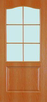 Двери Палитра 11-4 Интерьерные Двери миланский орех со стеклом