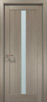 Межкомнатные двери Двери OPTIMA-01 Папа Карло клен серый со стеклом