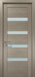 Межкомнатные двери Двери OPTIMA-02 Папа Карло клен серый со стеклом