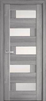 Двери Новый Стиль Пиана бук пепельный делюкс стекло Сатин