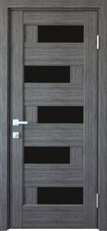 Межкомнатные двери Пиана Новый Стиль грей делюкс New стекло черное