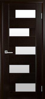 Двери Пиана Новый Стиль венге Делюкс со стеклом Сатин