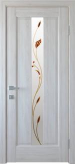 Межкомнатные двери Премьера Новый Стиль ясень делюкс со стеклом Р1