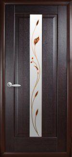 Двери Премьера Новый Стиль венге Делюкс со стеклом Р1