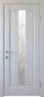 Межкомнатные двери Премьера Новый Стиль ясень делюкс со стеклом Р2