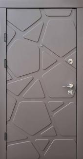 Входные двери Премиум Делюкс Qdoors карамельное дерево софт / белое дерево