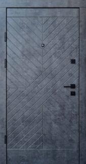 Входные двери Премиум Некст Qdoors мрамор темный / бетон бежевый