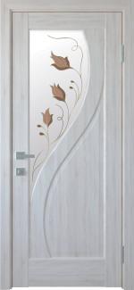 Двери Прима ясень делюкс со стеклом Р1