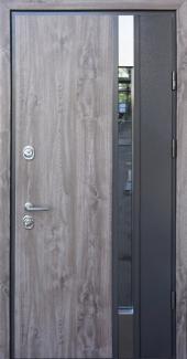 Входные двери Rio Р SL Страж дуб серый