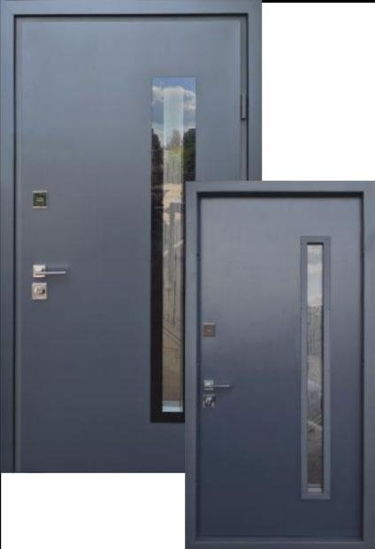 Входные двери Двері Страж Vetro NB антрацит