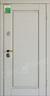 Входные двери Прованс-1 України білий супермат 12 мм(полотно),16 мм(наличники)