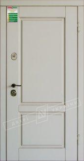 Входные двери Прованс-2 України білий супермат 12 мм(полотно),16 мм(наличники)