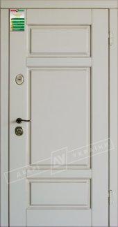 Входные двери Прованс-4 України білий супермат 12 мм(полотно),16 мм(наличники)