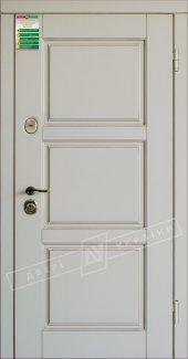 Входные двери Прованс-5 України білий супермат 12 мм(полотно),16 мм(наличники)