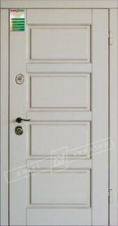 Входные двери Прованс-6 України білий супермат 12 мм(полотно),16 мм(наличники)