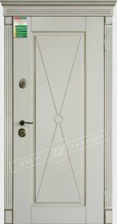 Входные двери Прованс-1 Deko України білий супермат 12 мм(полотно),16 мм(наличники)