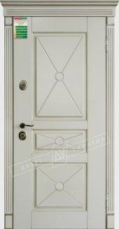 Входные двери Прованс-3 Deko України білий супермат 12 мм(полотно),16 мм(наличники)