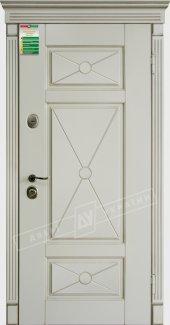 Входные двери Прованс-4 Deko України білий супермат 12 мм(полотно),16 мм(наличники)