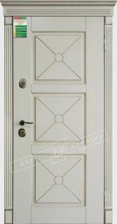 Входные двери Прованс-5 Deko України білий супермат 12 мм(полотно),16 мм(наличники)