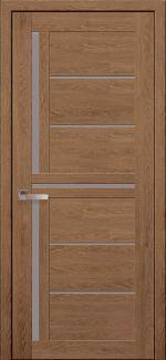 Межкомнатные двери Диана Новый Стиль дуб медовый стекло Сатин