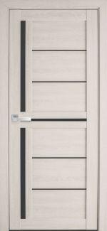 Межкомнатные двери Диана Новый Стиль дуб молочный стекло черное