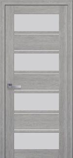 Межкомнатные двери Элиза Новый Стиль дуб дымчатый стекло Сатин