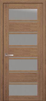 Межкомнатные двери Элиза Новый Стиль дуб медовый стекло Сатин