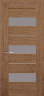 Двери Лилу дуб медовый стекло Сатин