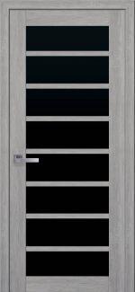 Двери Новый Стиль Виола дуб дымчатый стекло черное