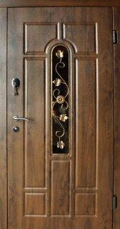 Двери Redfort Арка улица с ковкой дуб бронзовый улица (пвх-02) + ковка