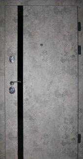Двери Redfort Лофт квартира базальт + черный вертикальный молдинг