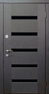 Двері Redfort Монако квартира венге + скляний чорний молдинг