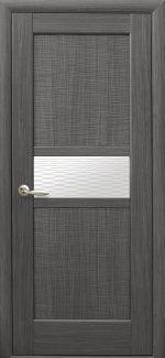 Двери Рифма Новый Стиль грей со стеклом Р1
