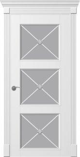 Двери Рим Венециано ПОО белые со стеклом