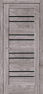Двері Rino-01 дуб денвер скло чорне