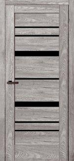 Двері Rino-02 дуб денвер скло чорне