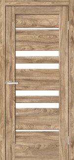 Двері Rino-06 дуб оріндж скло Сатін
