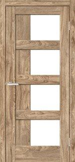 Двері Rino-08 дуб оріндж скло Сатін