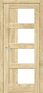 Двері Rino-08 дуб саванна скло Сатін