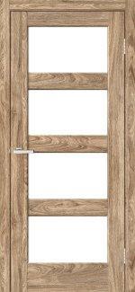 Двері Rino-10 дуб оріндж скло Сатін