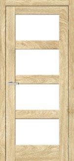 Двері Rino-10 дуб саванна скло Сатін