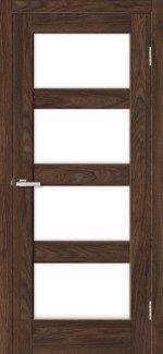 Двері Rino-10 дуб такома скло Сатін