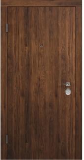 Входные двери BAZ 001 Rodos орех темный 12 мм(внутренняя),12 мм(наружная)